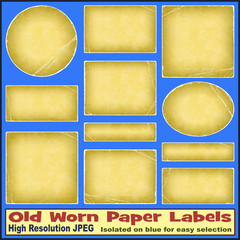 Old Worn Paper Labels
