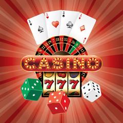casino red dice card