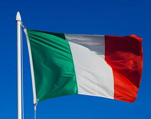 Flag of Italy in flight