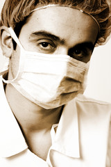 Portrait of a young doctor.