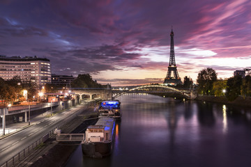 The Eiffel Tower Paris Seine River
