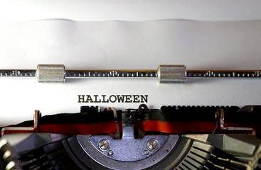 Halloween written with black ink