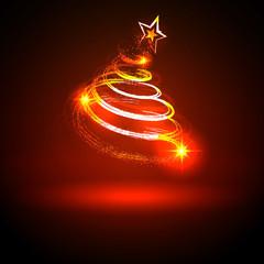 Weihnachtsbaum, abstrakt, Christbaum, Tanne, Xmas, Christmas,Rot