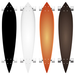 Colored mock-up for longboards