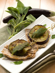 saltimbocca with eggplants