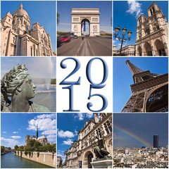 2015, Paris travel and tourism square collage