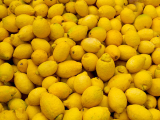 Organic lemons with natural flaws