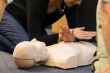 First aid CPR seminar. poster