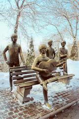 The Beatles Monument on Kok Tobe mountain in Almaty, Kazakhstan