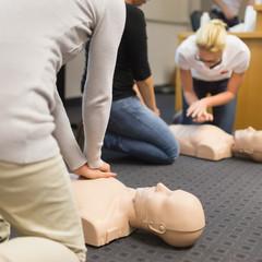 First aid CPR seminar.