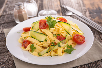 tagliatelle and vegetable