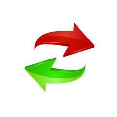 Arrow icon. Vector illustration