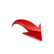 Red Arrow. Vector. - 72250502