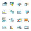 E-learning icon flat - 72250542