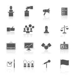 Elections icons set black