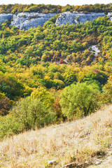 view of gorge mariam-dere in Crimean mountains