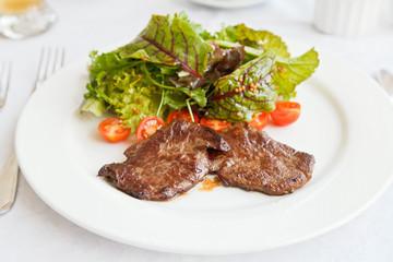 hot salad with roast beef