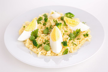 rice with vegetable and egg