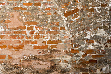 abstraction of red old brick background