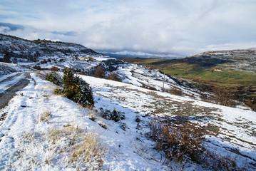 Winter time at Maestrasgo, Aragon, Spain