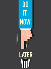 Word Do it now VECTOR ILLUSTRATION