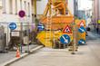 canvas print picture - Baustelle in einer Stadt