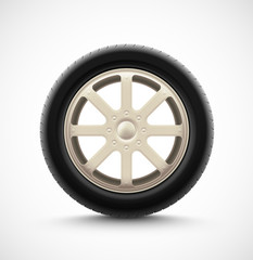 Isolated Car Wheel