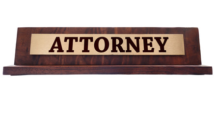 Attornet name plate