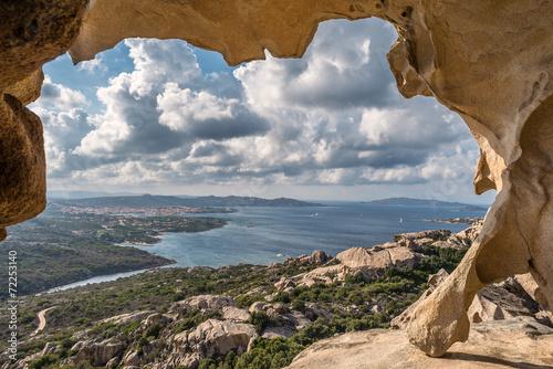 Fototapeta samoprzylepna Sardegna, panorama di Palau da Capo d'Orso