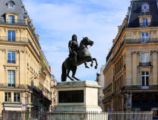 Statue of Louis XIV in Place des Victoires in Paris