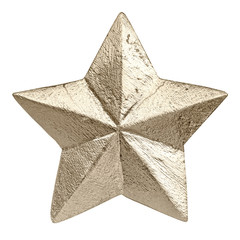 golden colored christmas star