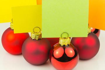 boules porte-noms pour repas réveillon de Noël