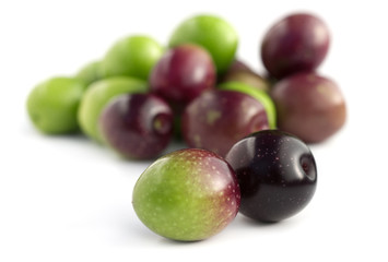organic raw olives isolated