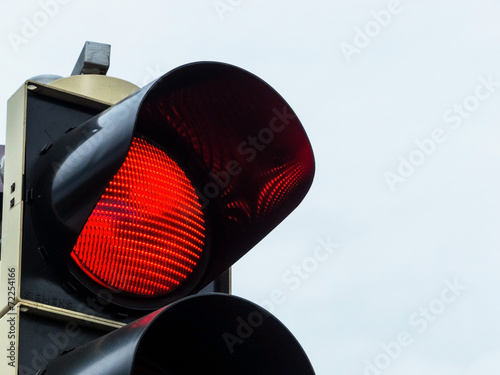 canvas print picture Rotes Licht bei Verkehrsampel