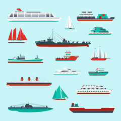 Ships and boats set