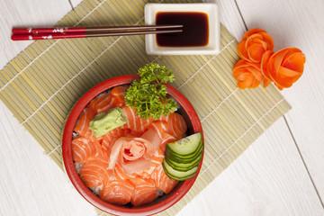 cuisine japonais grillage beignet sushi sashimi