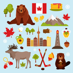Canada decorative set