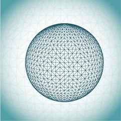 Mosaic globe vector illustration