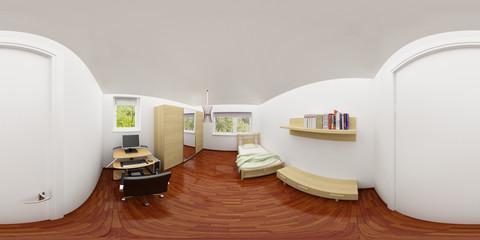 Kinderzimmer 360° 3D Rendering