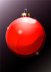 Boule de Noël rouge vectoriel