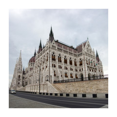 The parliament building in Budapest, Hungary.