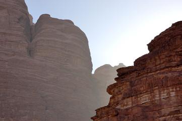 Red mountains in Wadi Rum, Jordan