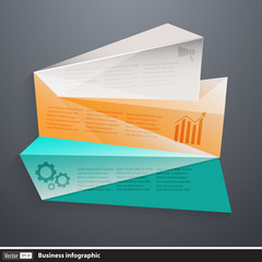 Vector modern business infographics with polygons