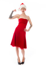 strong model isolated with arm curl