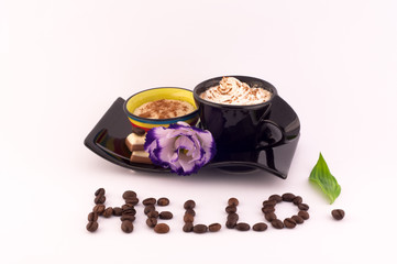 Coffee, Cream and Flowers