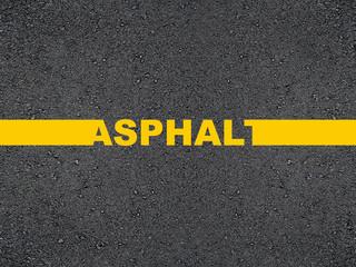 Road inscription asphalt.