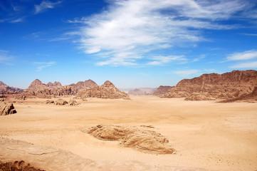 Aerial view of Wadi Rum desert, Jordan