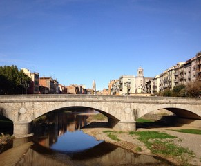 Bridge over the river Onyar in Gerona