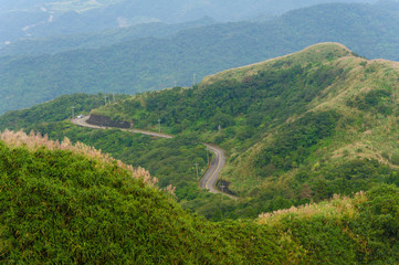 path on the peak of mountain