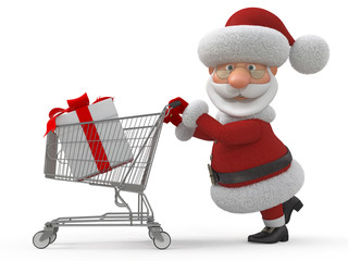 3d Santa Claus in shop